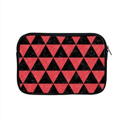 Triangle3 Black Marble & Red Colored Pencil Apple Macbook Pro 15  Zipper Case by trendistuff