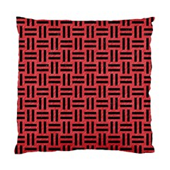 Woven1 Black Marble & Red Colored Pencil Standard Cushion Case (one Side) by trendistuff