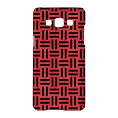 Woven1 Black Marble & Red Colored Pencil Samsung Galaxy A5 Hardshell Case  by trendistuff