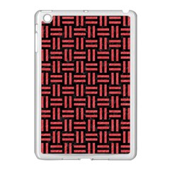 Woven1 Black Marble & Red Colored Pencil (r) Apple Ipad Mini Case (white) by trendistuff