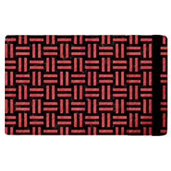 Woven1 Black Marble & Red Colored Pencil (r) Apple Ipad Pro 9 7   Flip Case by trendistuff