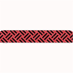 Woven2 Black Marble & Red Colored Pencil Small Bar Mats