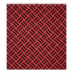 Woven2 Black Marble & Red Colored Pencil Shower Curtain 66  X 72  (large)  by trendistuff