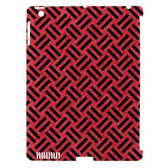 Woven2 Black Marble & Red Colored Pencil Apple Ipad 3/4 Hardshell Case (compatible With Smart Cover) by trendistuff