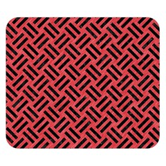 Woven2 Black Marble & Red Colored Pencil Double Sided Flano Blanket (small)  by trendistuff