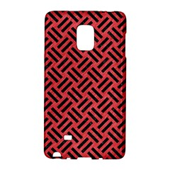 Woven2 Black Marble & Red Colored Pencil Galaxy Note Edge by trendistuff