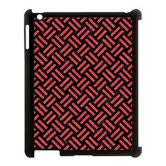 Woven2 Black Marble & Red Colored Pencil (r) Apple Ipad 3/4 Case (black) by trendistuff