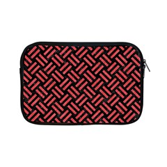 Woven2 Black Marble & Red Colored Pencil (r) Apple Ipad Mini Zipper Cases by trendistuff