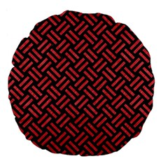 Woven2 Black Marble & Red Colored Pencil (r) Large 18  Premium Flano Round Cushions by trendistuff