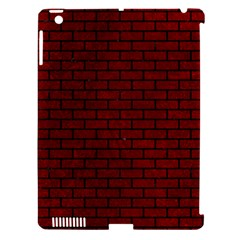 Brick1 Black Marble & Red Grunge Apple Ipad 3/4 Hardshell Case (compatible With Smart Cover) by trendistuff