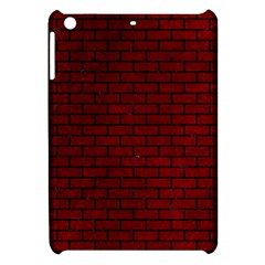 Brick1 Black Marble & Red Grunge Apple Ipad Mini Hardshell Case by trendistuff