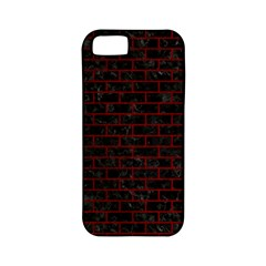 Brick1 Black Marble & Red Grunge (r) Apple Iphone 5 Classic Hardshell Case (pc+silicone) by trendistuff