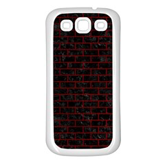 Brick1 Black Marble & Red Grunge (r) Samsung Galaxy S3 Back Case (white) by trendistuff