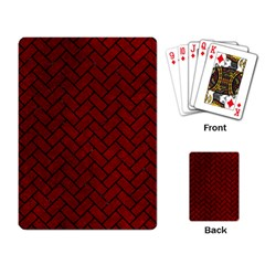 Brick2 Black Marble & Red Grunge Playing Card by trendistuff