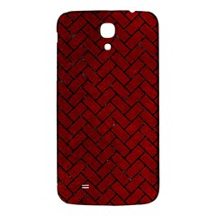 Brick2 Black Marble & Red Grunge Samsung Galaxy Mega I9200 Hardshell Back Case by trendistuff