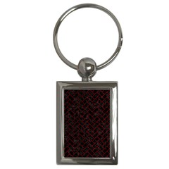 Brick2 Black Marble & Red Grunge (r) Key Chains (rectangle)  by trendistuff