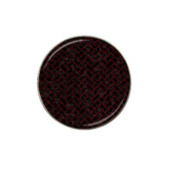 Brick2 Black Marble & Red Grunge (r) Hat Clip Ball Marker by trendistuff
