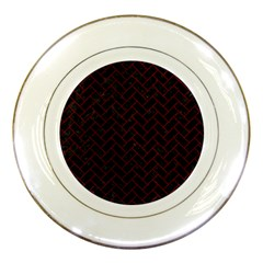 Brick2 Black Marble & Red Grunge (r) Porcelain Plates by trendistuff
