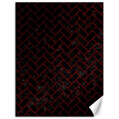 Brick2 Black Marble & Red Grunge (r) Canvas 18  X 24   by trendistuff
