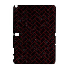 Brick2 Black Marble & Red Grunge (r) Galaxy Note 1 by trendistuff