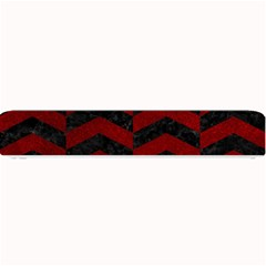 Chevron2 Black Marble & Red Grunge Small Bar Mats by trendistuff