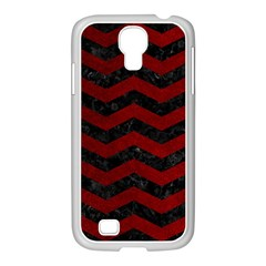 Chevron3 Black Marble & Red Grunge Samsung Galaxy S4 I9500/ I9505 Case (white) by trendistuff