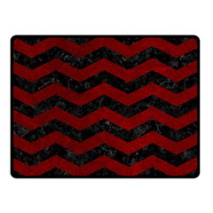 Chevron3 Black Marble & Red Grunge Double Sided Fleece Blanket (small)  by trendistuff