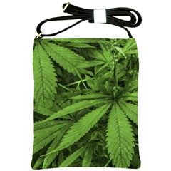 Marijuana Plants Pattern Shoulder Sling Bags