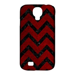 Chevron9 Black Marble & Red Grunge Samsung Galaxy S4 Classic Hardshell Case (pc+silicone) by trendistuff