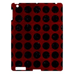 Circles1 Black Marble & Red Grunge Apple Ipad 3/4 Hardshell Case by trendistuff