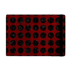 Circles1 Black Marble & Red Grunge Apple Ipad Mini Flip Case by trendistuff