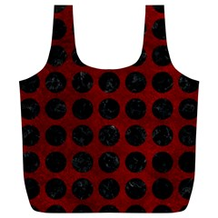 Circles1 Black Marble & Red Grunge Full Print Recycle Bags (l)  by trendistuff