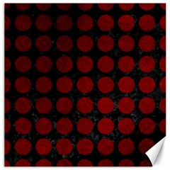 Circles1 Black Marble & Red Grunge (r) Canvas 20  X 20   by trendistuff