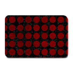 Circles1 Black Marble & Red Grunge (r) Plate Mats by trendistuff