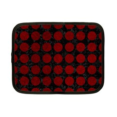 Circles1 Black Marble & Red Grunge (r) Netbook Case (small)  by trendistuff