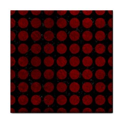 Circles1 Black Marble & Red Grunge (r) Face Towel by trendistuff