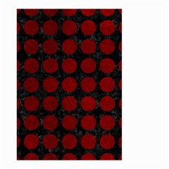 Circles1 Black Marble & Red Grunge (r) Small Garden Flag (two Sides) by trendistuff
