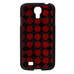 Circles1 Black Marble & Red Grunge (r) Samsung Galaxy S4 I9500/ I9505 Case (black) by trendistuff