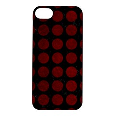 Circles1 Black Marble & Red Grunge (r) Apple Iphone 5s/ Se Hardshell Case by trendistuff