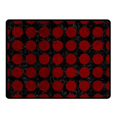 Circles1 Black Marble & Red Grunge (r) Double Sided Fleece Blanket (small)  by trendistuff