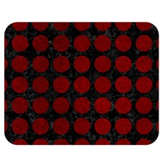 Circles1 Black Marble & Red Grunge (r) Double Sided Flano Blanket (medium)  by trendistuff