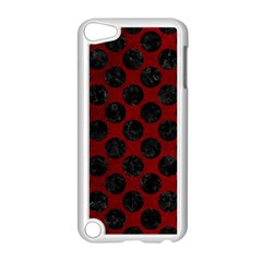 Circles2 Black Marble & Red Grunge Apple Ipod Touch 5 Case (white) by trendistuff
