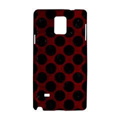 Circles2 Black Marble & Red Grunge Samsung Galaxy Note 4 Hardshell Case by trendistuff