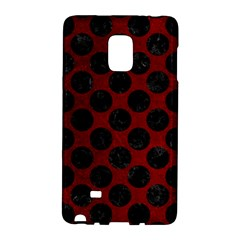 Circles2 Black Marble & Red Grunge Galaxy Note Edge by trendistuff