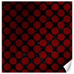 Circles2 Black Marble & Red Grunge (r) Canvas 20  X 20   by trendistuff