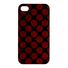 Circles2 Black Marble & Red Grunge (r) Apple Iphone 4/4s Premium Hardshell Case by trendistuff