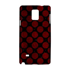 Circles2 Black Marble & Red Grunge (r) Samsung Galaxy Note 4 Hardshell Case by trendistuff