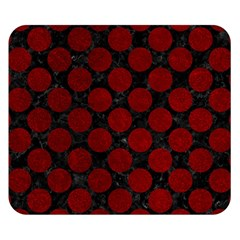 Circles2 Black Marble & Red Grunge (r) Double Sided Flano Blanket (small)  by trendistuff