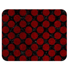 Circles2 Black Marble & Red Grunge (r) Double Sided Flano Blanket (medium)  by trendistuff