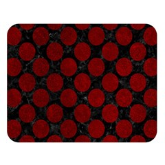 Circles2 Black Marble & Red Grunge (r) Double Sided Flano Blanket (large)  by trendistuff